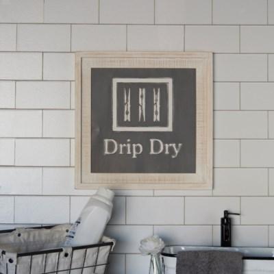 "WD. SIGN ""DRIP DRY"" (6/cs)"
