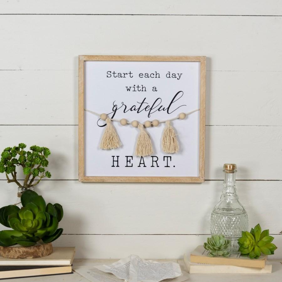 "WD. SIGN ""GRATEFUL HEART"""