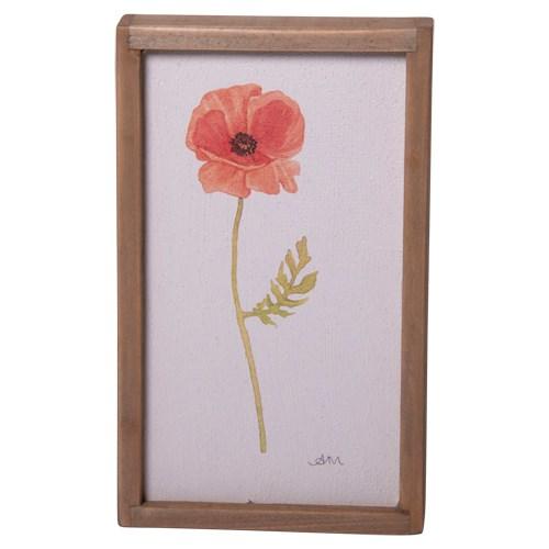 WD. FRAMED FLOWER ART