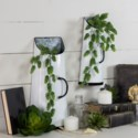 MTL. HALF ROUND WALL PLANTERS SET/2 (6/cs)