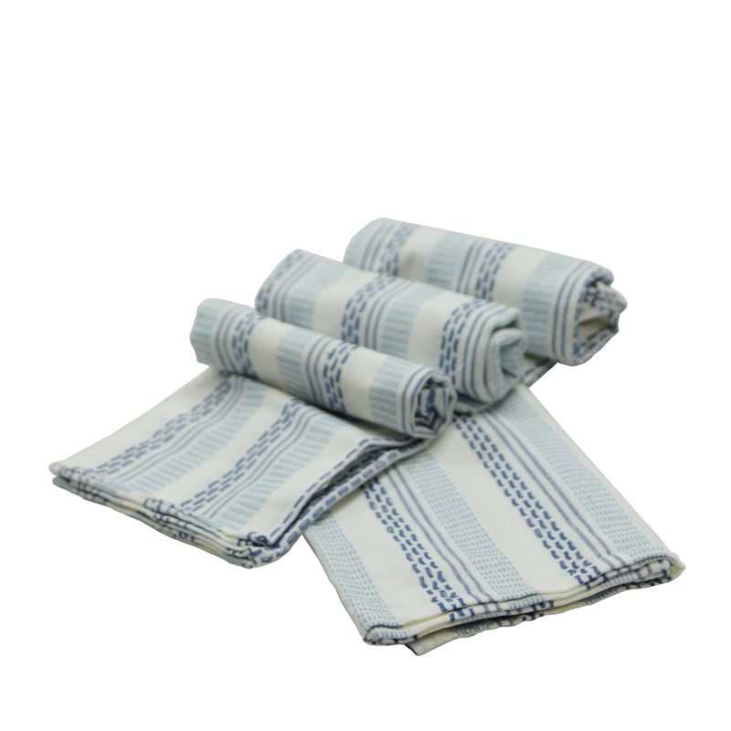 COTTON TEA TOWELS S/4