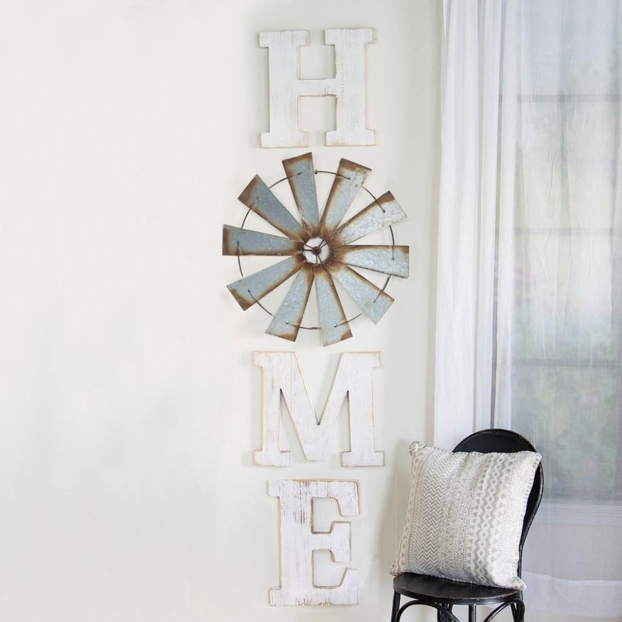 "WD. ""HOME"" LETTERS W/ WINDMILL (1/cs)"