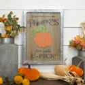 "|WD./MTL. SIGN ""PUMPKINS FOR SALE"" (1/cs)