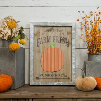"WD./MTL. SIGN ""HAND PICKED PUMPKINS"" (1/cs)"
