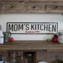 "MTL. SIGN ""MOMS KITCHEN"" (1/cs)"
