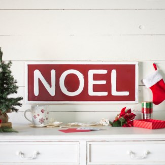 "MTL. SIGN ""NOEL"" (1/cs)"