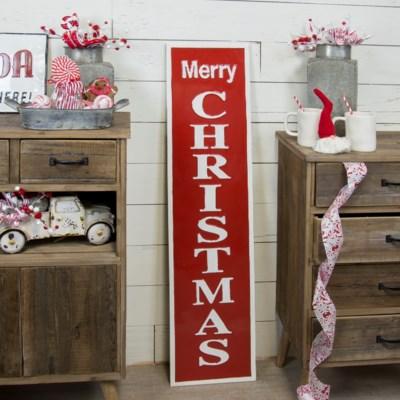 "MTL. SIGN ""MERRY CHRISTMAS"" (1/cs)"