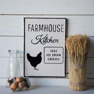 "MTL. SIGN ""FARMHOUSE KITCHEN"" (1/cs)"