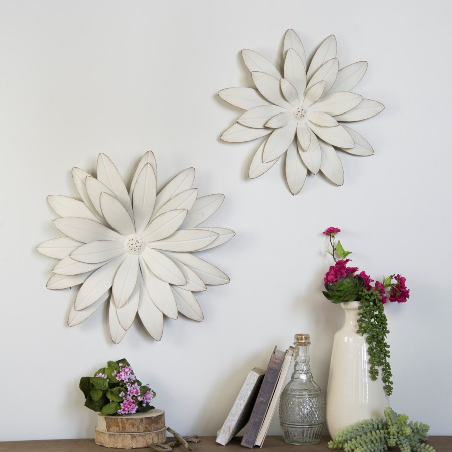 MTL. FLOWERS SET/2 (1/cs) (Available Jan 2019)