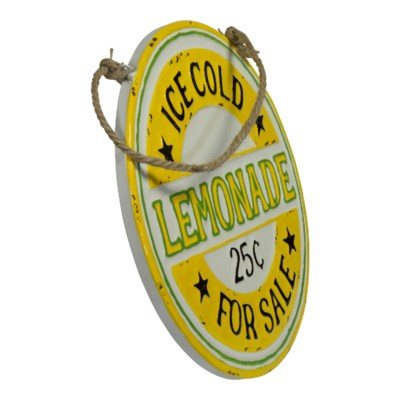 "MTL. SIGN ""LEMONADE FOR SALE"" (1/cs) (Available Jan 2019)"