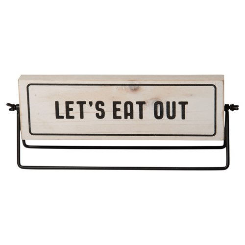 """WD. SIGN """"LETS EAT OUT"""""""