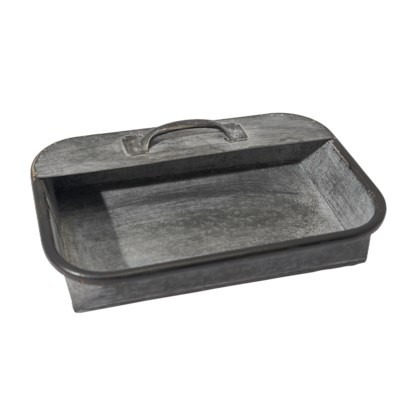 MTL. WALL TRAY W/ HANDLE (2/cs)