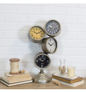 |MTL. STACKED TABLE CLOCK|