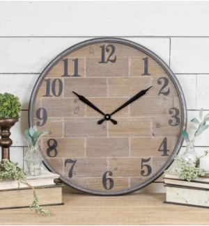 WD./MTL. WALL CLOCK