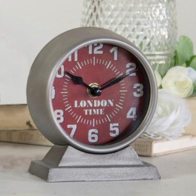 """MTL. TABLE CLOCK """"LONDON"""" (36/cs)"""