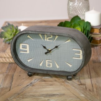 MTL. TABLE CLOCK OVAL (8/cs)