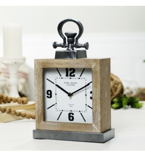 WD./MTL. TABLE CLOCK