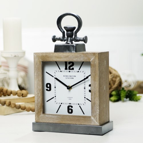 WD./MTL. TABLE CLOCK