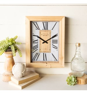 WD. FRAMED CLOCK
