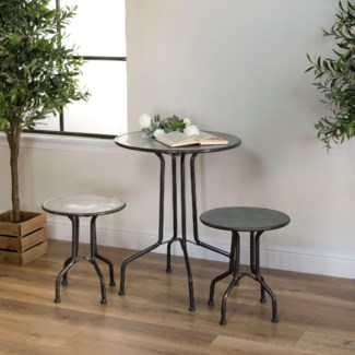 MTL. BISTRO TABLE W/ STOOLS (1set/cs)