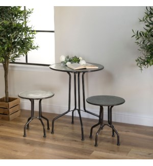 |MTL. BISTRO TABLE W/ STOOLS|