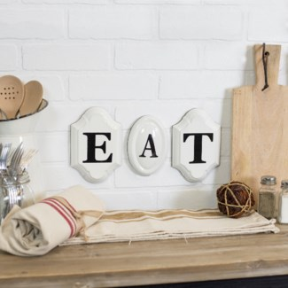 "|MTL. ""EAT"" SIGN (8 sets/cs)