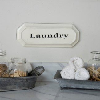 "|MTL. ""LAUNDRY"" SIGN (24/cs)