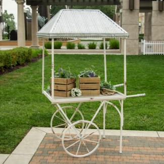|MTL. FLOWER CART W/GALVANIZED ROOF (1/cs)|