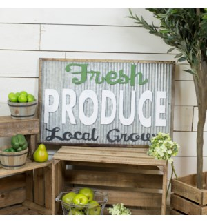 "MTL. SIGN ""FRESH PRODUCE"""