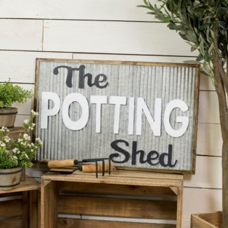"MTL. SIGN ""POTTING SHED"" (4/cs)"