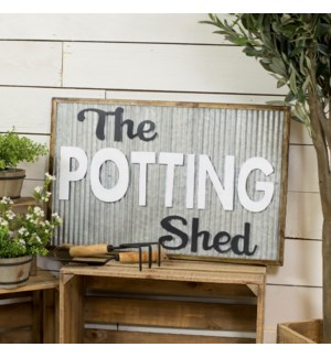 "|MTL. SIGN ""POTTING SHED""