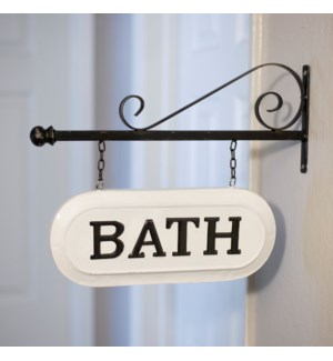 "|MTL. SIGN ""BATH""