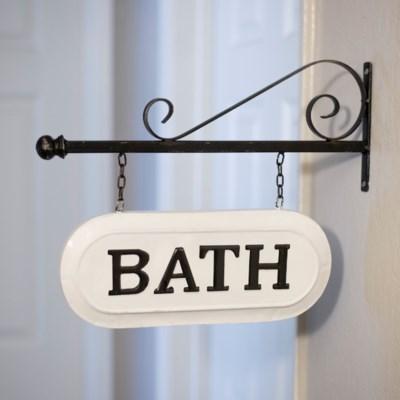 """MTL. SIGN """"BATH"""" (8/cs)"""