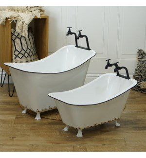 MTL. TUB PLANTERS SET/2