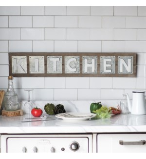 "|WD./MTL. WORD ART ""KITCHEN""