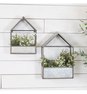 |MTL. WALL PLANTERS SET/2|