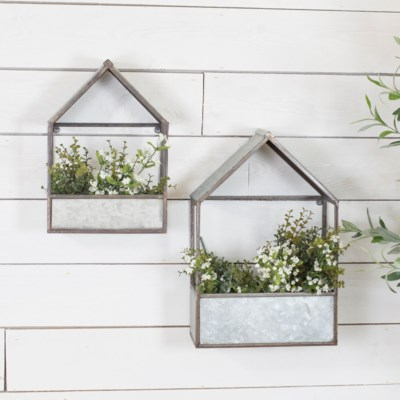 MTL. WALL PLANTERS SET/2 (1 set/cs)