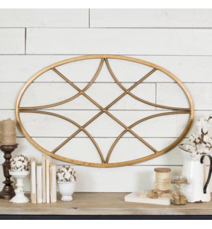 |MTL. OVAL SHAPED WALL DECOR|