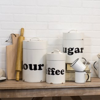 MTL. DECORATIVE CANISTERS (1set/cs)