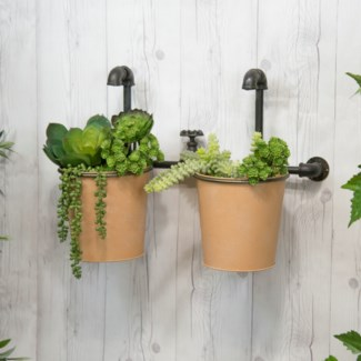 MTL. FAUCET PLANTER DBL. (2/cs) (Available Jan 2019)