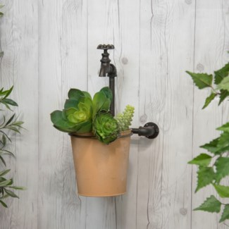 MTL. FAUCET PLANTER (2/cs) (Available Jan 2019)