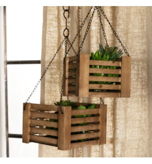 WD. CRATE PLANTERS SET/2