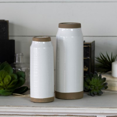 CER. TALL POTS SET/2