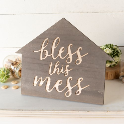 "WD. TABLETOP SIGN ""BLESS"""