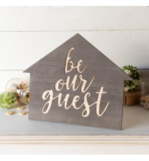 "WD. TABLETOP SIGN ""GUEST"""