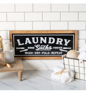 "MTL./WD. SIGN ""LAUNDRY"""