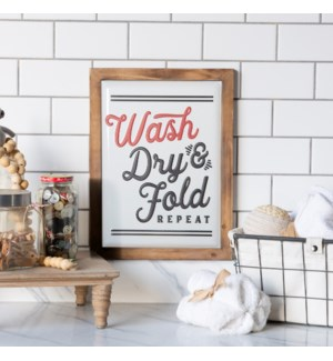 "MTL./WD. SIGN ""WASH"""