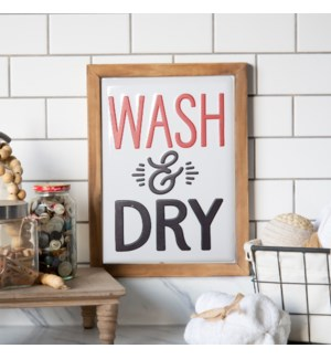 "MTL./WD. SIGN ""WASH & DRY"""