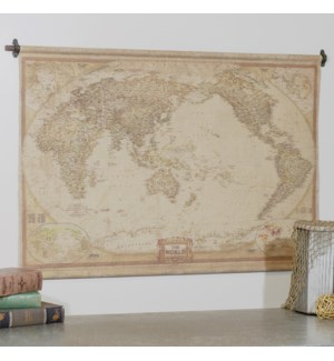 "|HANGING MAP ""THE WORLD"" 48""