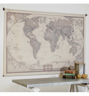 """HANGING MAP """"THE WORLD"""" 80"""""""